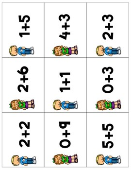 Addition Bump Numbers 1-10