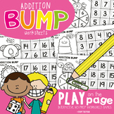 Addition Bump Play-on-the-Page Worksheet Games