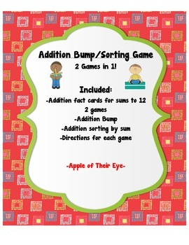 Addition Bump/Sorting Game