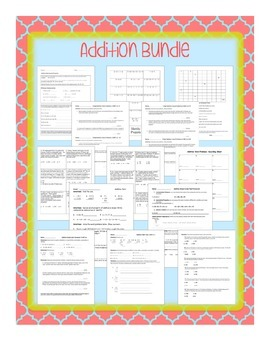 Addition Word Problems Bundle