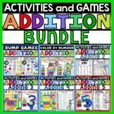 Addition Worksheets Adding 2-5 Math Bundle