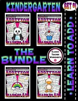 Addition Bundle - Learn to Add - Set 1 - Kindergarten