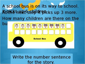 Addition Bus - Counting On Word Problems