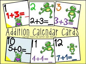 Calendar Date Cards - Addition