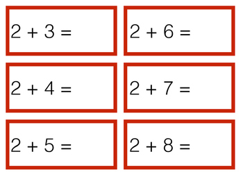 Addition Cards - Basic Facts 0-10