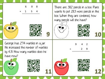 Addition Cards with QR Codes