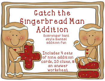 Addition Catch the Gingerbread Man