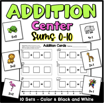 Addition Center Activities for Kindergarten
