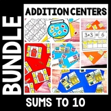 Addition Center Bundle - Addition Math Centers with Sums to 10