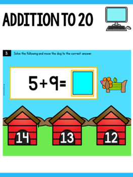 Addition Center First Grade - Addition With 20 Task Cards