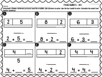 Addition Center: Model Addition - GO MATH! 1st Grade