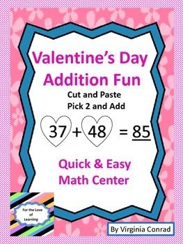 Addition Center--Valentine's Day Theme