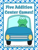 Addition Transportation Car Themed Five Mix and Match Center Games