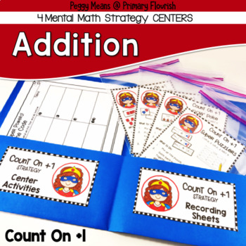 Addition Centers {Count On +1}