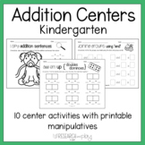 Kindergarten Addition Centers