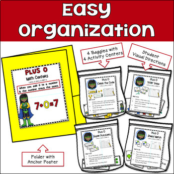 Addition Centers {Plus 0 Strategy}