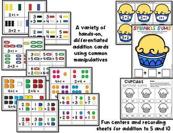 Addition Centers and Activities for Pre-K and Kindergarten