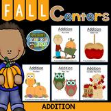 Addition Fall Math Centers