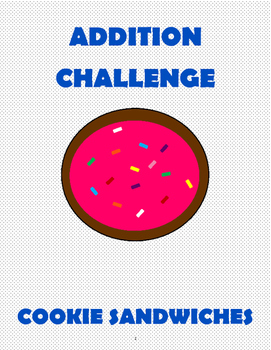 Addition Challenge: Cookie Sandwich Contest