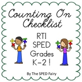 Addition Counting On (Missing Sum) Checklist