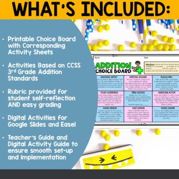 Addition Choice Board