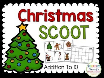 Christmas Addition Task Cards - SCOOT