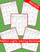 Addition Christmas Lights Coloring Worksheets