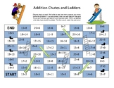 Addition Chutes and Ladders- Up to 20