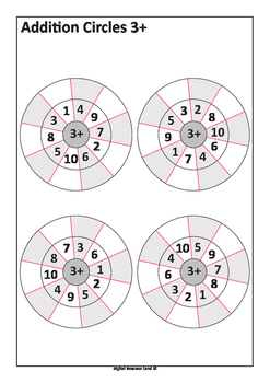 Addition Circles - Addition to 20