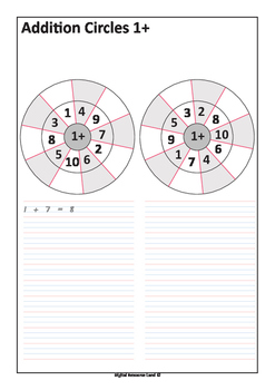 Addition Circles with Number Sentences - Addition to 20