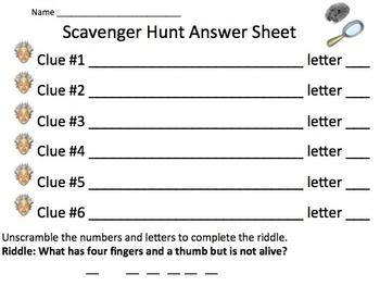 Addition Classroom Scavenger Hunt Activity