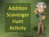 Addition Classroom Scavenger Hunt Activity