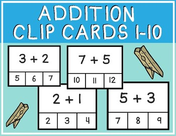 Addition Clip Cards 1-10