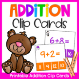 Addition Clip Cards: Addition Activity for Adding 1 - 10