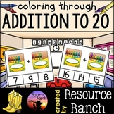 Addition Clip Cards to 20 - Crayons
