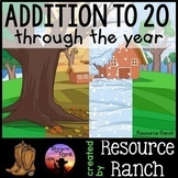 Addition Clip Cards Through the Year Bundle Math Centers