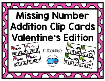 Addition Clip Cards: Valentine's Day Edition