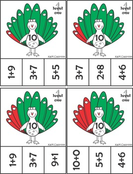 Math - Addition Clip It Cards - up to 10 - differentiated