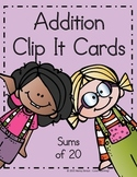 Addition Clip It Cards
