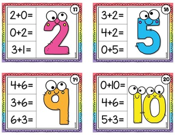 Addition Chip It Cards {Sums to 10 and 20}