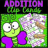 Addition Clip and Flip Cards - Number Facts From 0 to  20