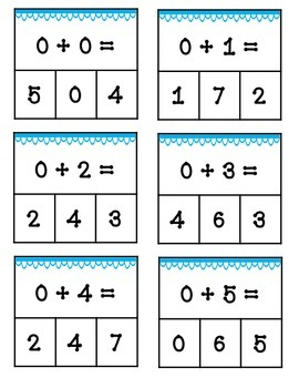 Addition Clothespin Math Activity