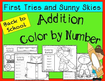 Addition Color By Number