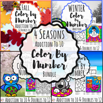 Addition Color By Number- 4 Seasons {Growing Bundle}
