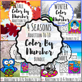 Addition Color By Number- 4 Seasons Bundle