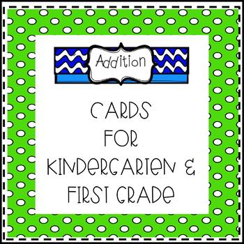 Addition Color Cards for Kindergarten and First Grade