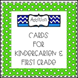 Addition Cards for Kindergarten and First Grade
