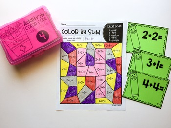 Addition Color Code with Task Cards