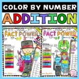 Addition Worksheets Color by Number