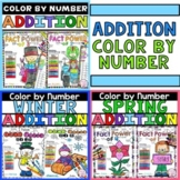 Addition Color by Number - Addition 1st Grade Activities